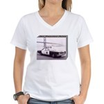 San Francisco Police Car Women's V-Neck T-Shirt