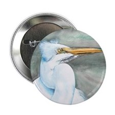 "Great White Egret 2.25"" Button"