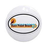 Race Point Beach MA - Oval Design. Ornament (Round