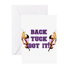 Back Tuck Got it Tumbling Greeting Card