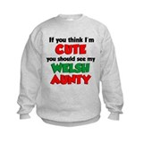 I'm Cute Welsh Aunty Sweatshirt