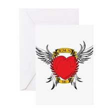 Jesus Heart Tattoo Greeting Card