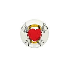 Jesus Heart Tattoo Mini Button (10 pack)
