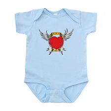Jesus Heart Tattoo Infant Bodysuit