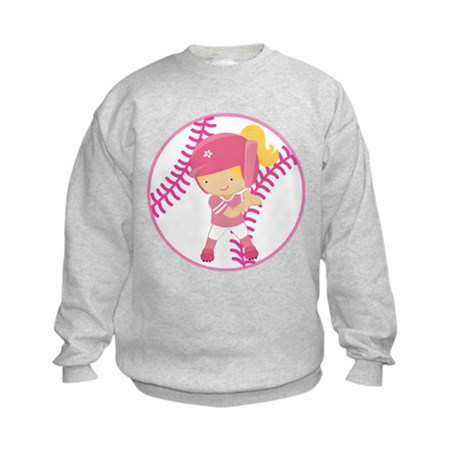 Softball Batter Gift Kids Sweatshirt