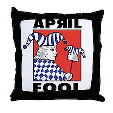 April Fool's Day Throw Pillow