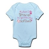 Future Softball Player Infant Bodysuit
