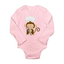 Baby Chef Monkey Long Sleeve Infant Bodysuit