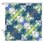 Aura Blue Shower Curtain