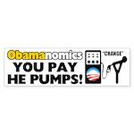 """Obamanomics: You Pay!"" Sticker (Bumper)"