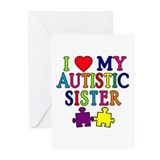 I Love My Autistic Sister Greeting Cards (Pk of 10