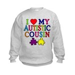 I Love My Autistic Cousin Kids Sweatshirt