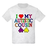 I Love My Autistic Cousin Kids Light T-Shirt