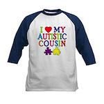 I Love My Autistic Cousin Kids Baseball Jersey