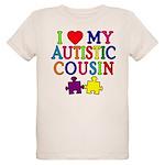 I Love My Autistic Cousin Organic Kids T-Shirt