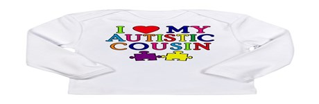I Love My Autistic Cousin Long Sleeve Infant T-Shi