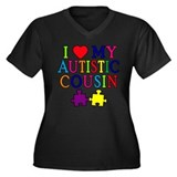 I Love My Autistic Cousin Women's Plus Size V-Neck