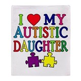 I Love My Autistic Daughter Tshirts Stadium Blank