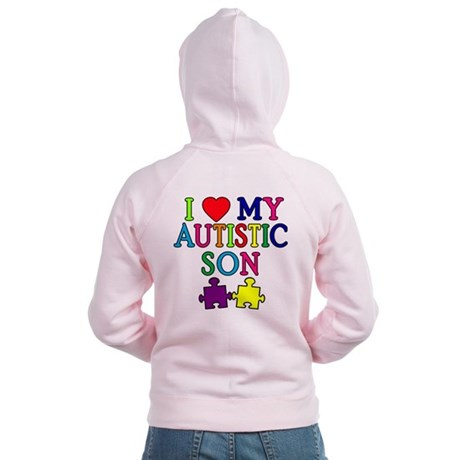 I Love My Autistic Son Tshirts Women's Zip Hoodie