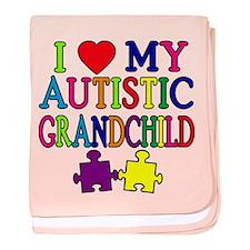 I Love My Autistic Grandchild Tshirts baby blanket