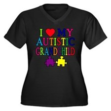I Love My Autistic Grandchild Tshirts Women's Plus