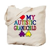 I Love My Autistic Grandchild Tshirts Tote Bag