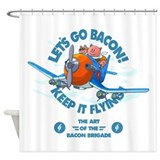 When pigs fly-Bacon brigade i Shower Curtain