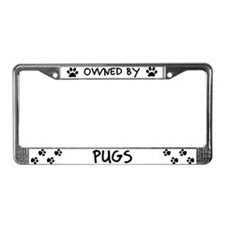 Owned by Pugs License Plate Frame
