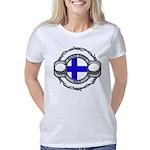 Fire and Blood Women's V-Neck Dark T-Shirt