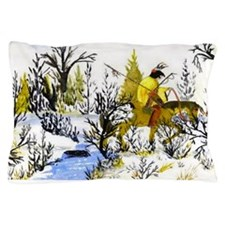 Winter Warrior Art Designed Pillow Case