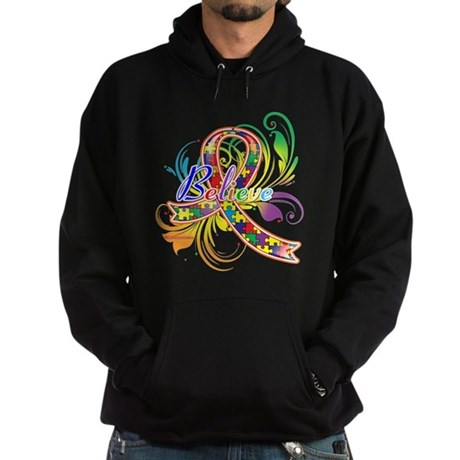 Autism Awareness Believe Hoodie (dark)