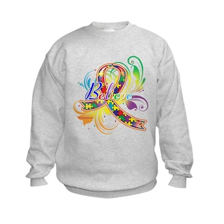Autism Awareness Believe Kids Sweatshirt