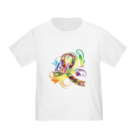 Autism Awareness Believe Toddler T-Shirt