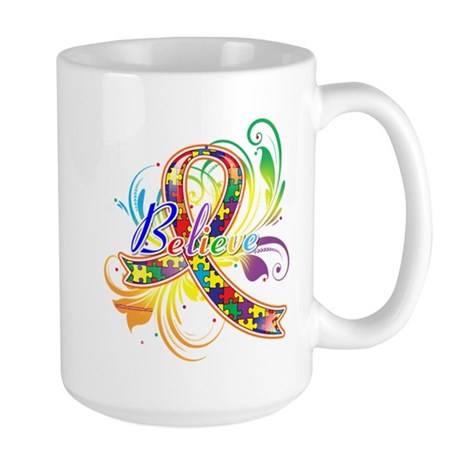 Autism Awareness Believe Large Mug