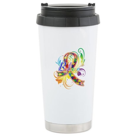 Autism Awareness Believe Ceramic Travel Mug