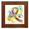 Autism Awareness Believe Framed Tile