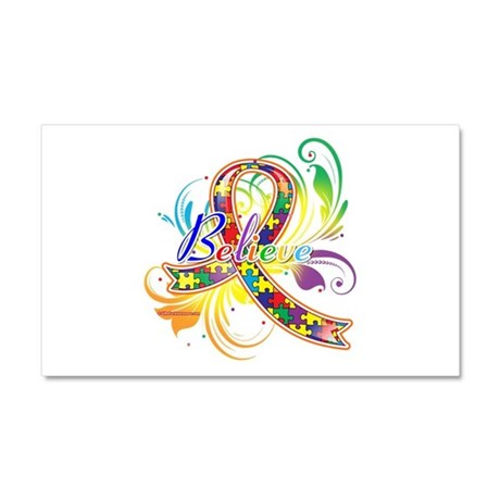 Autism Awareness Believe Car Magnet 20 x 12