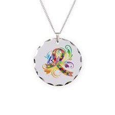 Autism Awareness Believe Necklace Circle Charm
