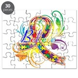 Autism Awareness Believe Puzzle