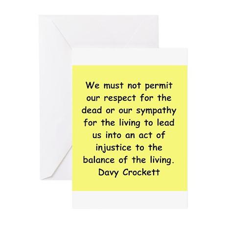 Davy Crockett Greeting Cards (Pk of 10)