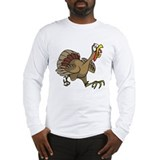 Cute Cartoon turkey Long Sleeve T-Shirt