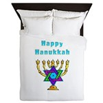 Happy Hanukkah Queen Duvet