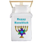 Happy Hanukkah Twin Duvet