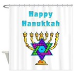 Happy Hanukkah Shower Curtain