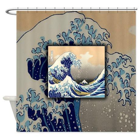 Japanese Shower Curtains | Custom Themed Japanese Bath Curtains ...