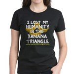 Women's Dark T-Shirt featuring Banana Triangle