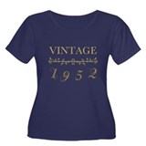 1952 Vintage Gold Women's Plus Size Scoop Neck Dar