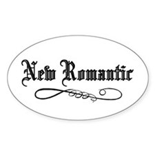 New Romantic Oval Decal