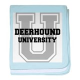 Deerhound UNIVERSITY baby blanket