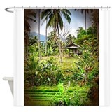 Balinese Farm Shower Curtain